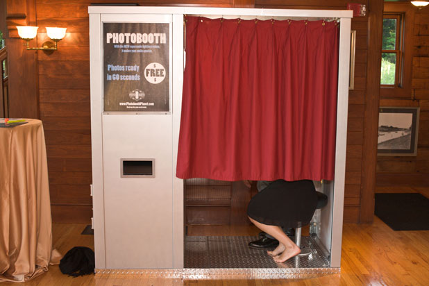 Our classic photo booth rental at an event in NYC