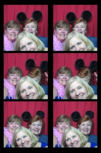 Photobooth photo bombing in New York City (NYC) at the Plaza Hotel Wedding in our vintage, classic photobooth