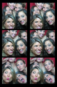 Photo bombing in our classic, vintage photobooth at an event in New Jersey (NJ)