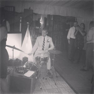 Really talented groom rocking out at his own reception!  The musicians were phenomenal!