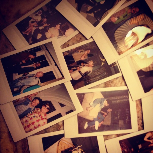 Snap shots of guests hanging around our vintage photo booth with the classic Polaroid prints!