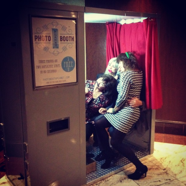 Guests in our vintage photo booth at the Taste of Bergen County fundraiser in NJ