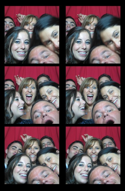 Friends celebrating in our vintage photo booth at the Plaza Hotel off Central Park in the heart of NYC