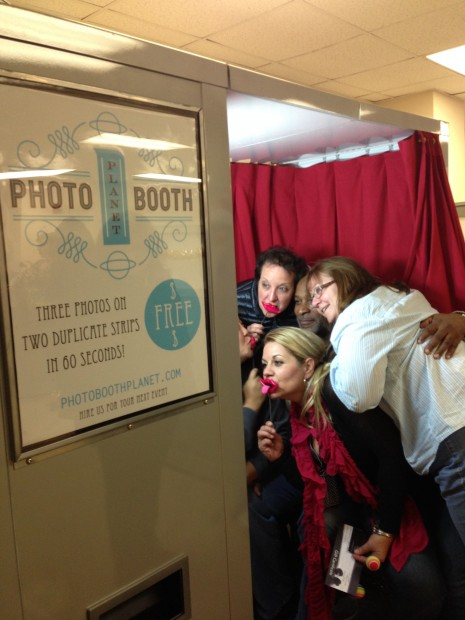 Guests crashing our photo booth at a recent event