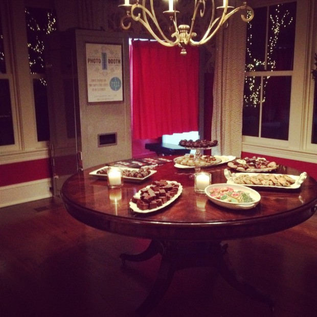 Our photo booth fitting in quite nicely in the corner of a lovely home for a private Holiday Party