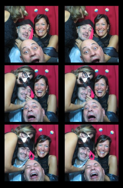 Guests in our vintage photo booth at the Ritz Carlton Hotel in New York, New York