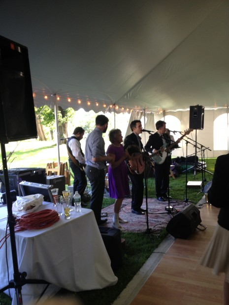 This family rocking out at a wedding last year at the Clermont State Historic Site in the beautiful Hudson Valley