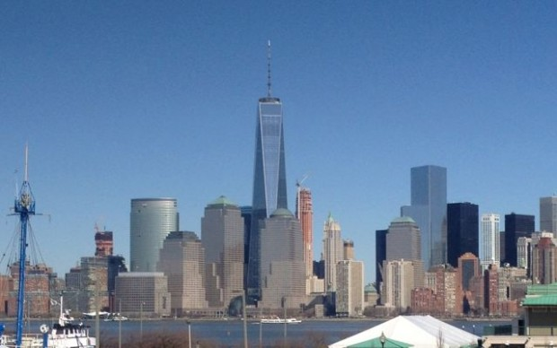 A view of Lower Manhattan, New York, from right over the Hudson River in Jersey City…Spring is here…(almost)!!