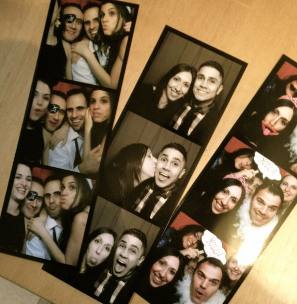 Guests capturing photo booth moments at a recent party in New York, New York