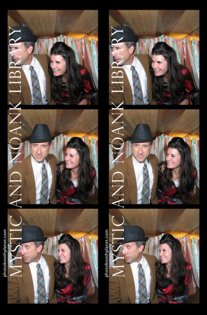 Photobooth Planet, owners - Geoff and Val Gordon in the Photobus at an event in Stonington, CT