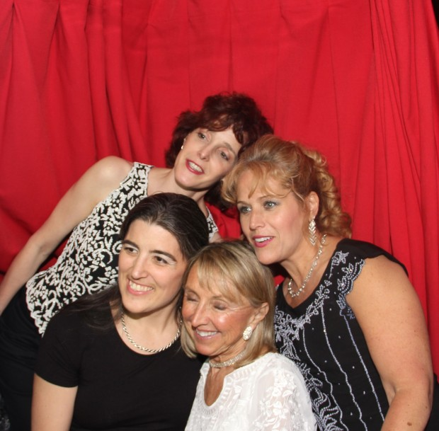 Guests in our classic photo booth at a recent event in North Jersey