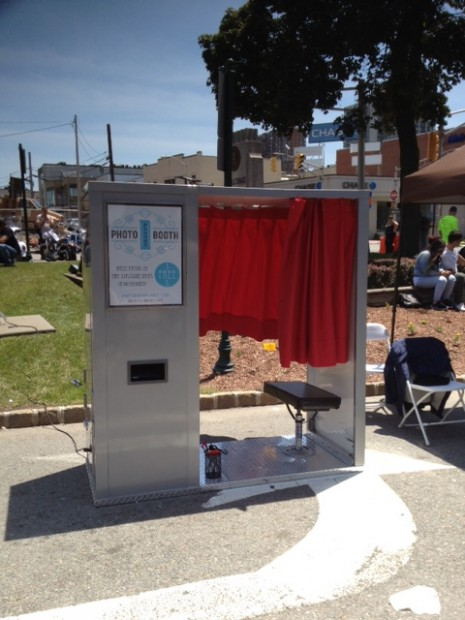 Our vintage photo booth sitting on Lemoine Avenue in Fort Lee, NJ...the birthplace of the motion picture industry.
