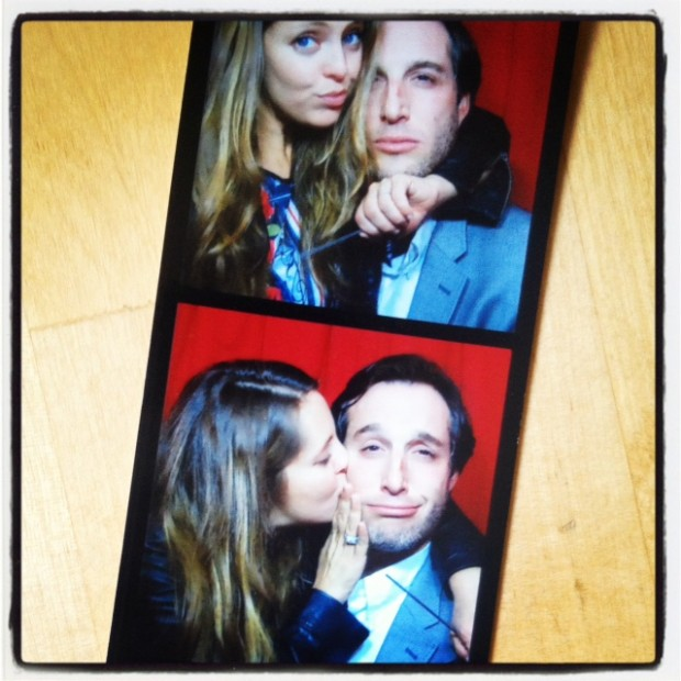Connecting in our vintage photo booth at a recent wedding at The Lighthouse in Manhattan