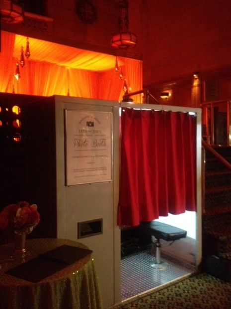 Our classic photo booth set-up in the converted Cipriani 42nd St. New York, NY
