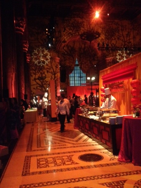 Beautifully converted Cipriani on 42nd Street in New York to a Taj-Mahal like palace