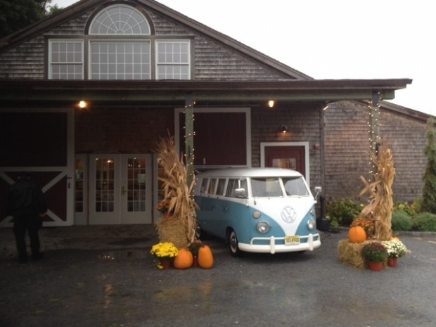 Our vintage VW Bus at Martha Clara Vineyards