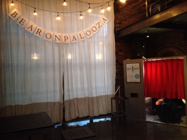 Our vintage photo booth at The Foundry in Long Island City, NY - a lovely wedding with four different live bands!