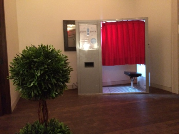 Our classic photo booth in the modern, chic event space at the Martha Washington Hotel located on East 29th Street in Midtown, Manhattan