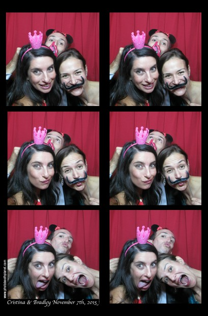 Guests hanging out in our classic photo booth at a recent wedding at the beautiful Ritz-Carlton Hotel, New York, New York