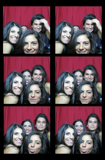 Guests rocking out in our classic photo booth at The Lighthouse, Chelsea Piers, New York, NY
