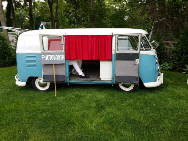 Our vintage VW Photo Bus at a recent event in Long Island, NY