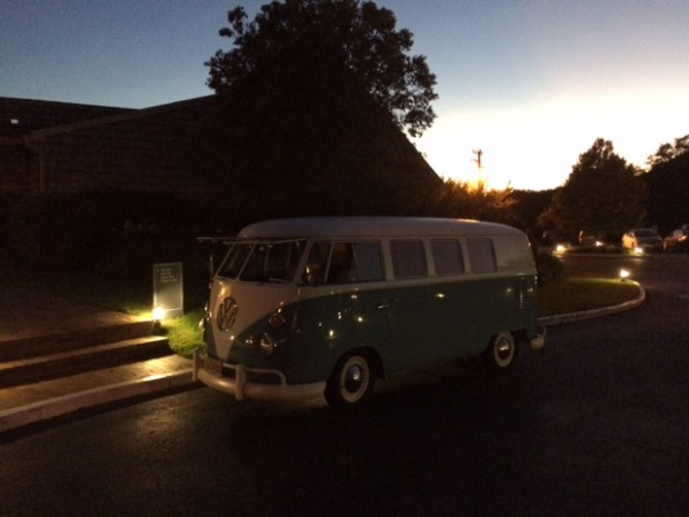 Bella, our VW Photo Booth Bus, hanging out in front of the Montauk Yacht Club, getting ready to join the party!